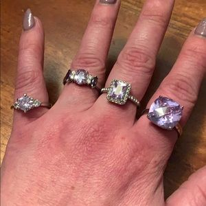 Super Sparkly Purple Ring Bundle